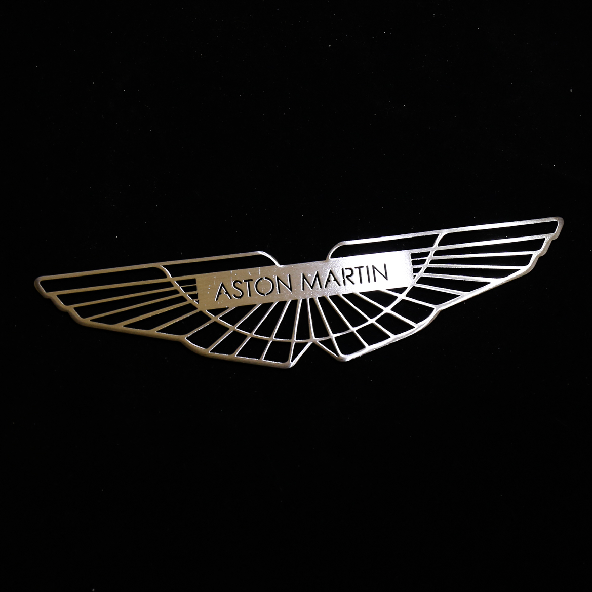 Stainless Steel Aston Martin Badge